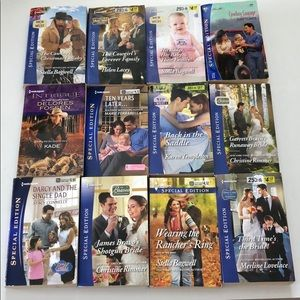 Lot of 12 Harlequin romance novels